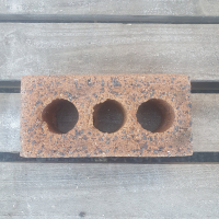 New - 3 Hole Brick - Red - 230 x 110 x 75 - 32 In Stock