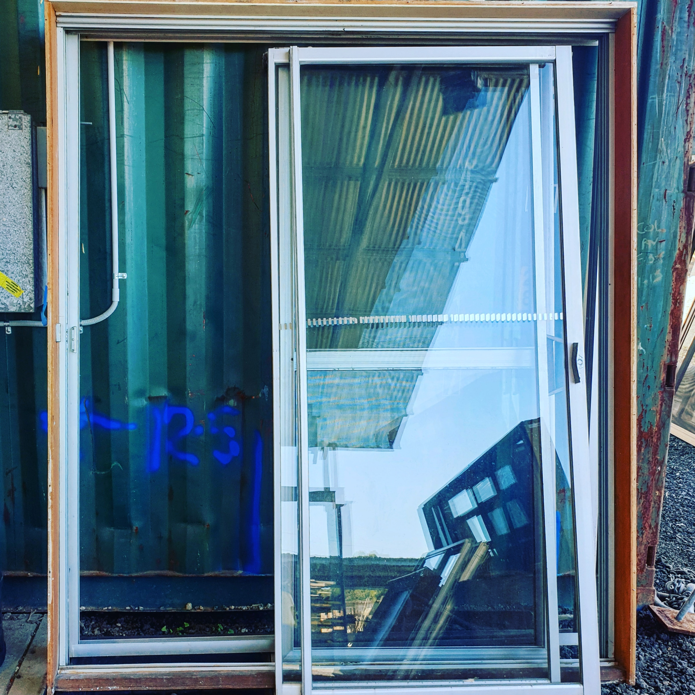 SILVER - 1830w x 2100h - With Reveal - With Fly Screen Door (damaged) - $150 SILVER - 1830w x 2090h - No Reveal - With Fly Screen Door (damaged) - $50 SILVER - 1850w x 2100h - No Reveal - With Security Door (with Doggy Door) - $250