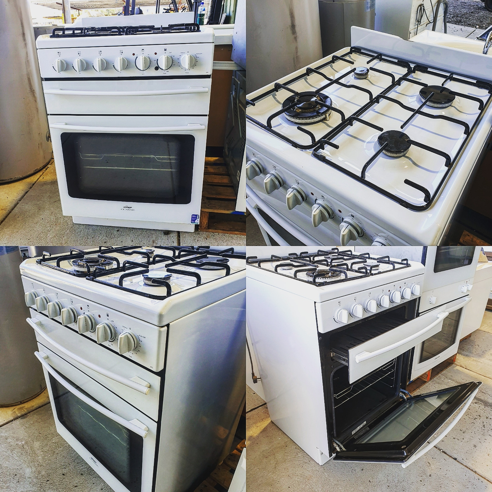 CHEF Natural Gas Upright Oven w/Griller