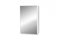 NEW Bathroom Wall Hung Cabinet - White Steel Mirror - 435w x 795h x 115d - RRP $180.00 - Sale Price $80.00